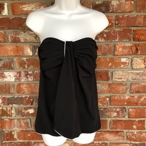 Gottex NWT strapless black and white tankini top S